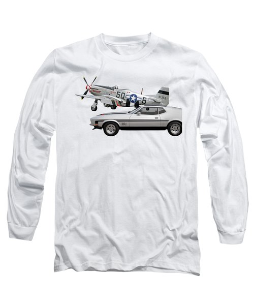 Mach 1 Mustang With P51  Long Sleeve T-Shirt