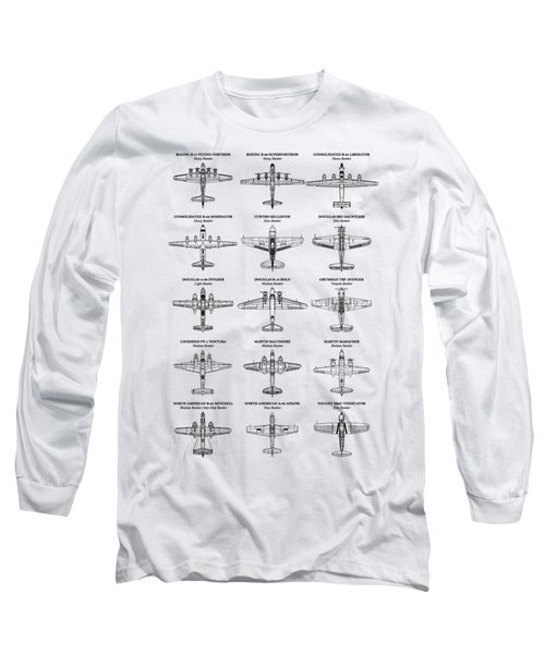 American Bomber Aircraft Of Ww2 Long Sleeve T-Shirt