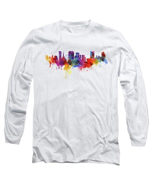 Birmingham Watercolor Skyline Long Sleeve T-Shirt