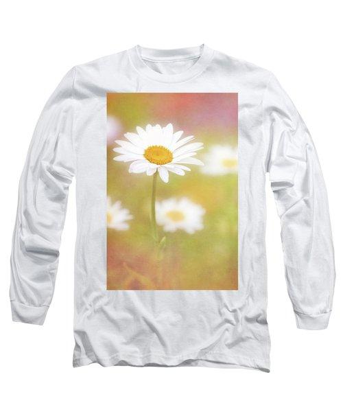 Delightful Daisy Portrait Long Sleeve T-Shirt