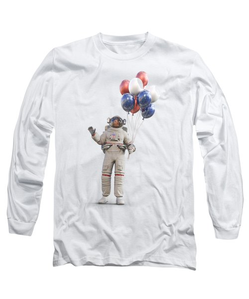 Astronaut With Happy Balloons  Long Sleeve T-Shirt