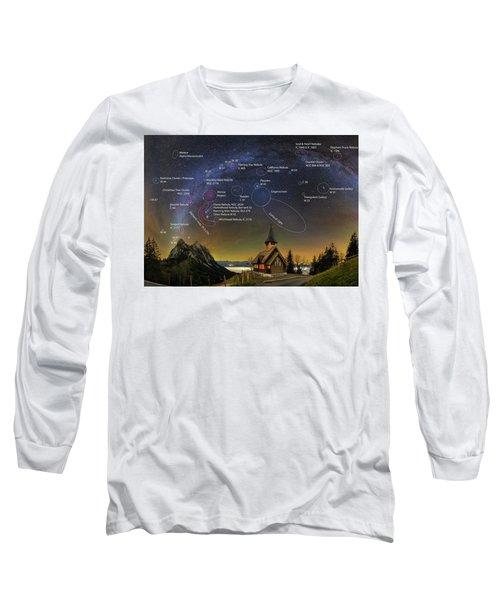 Astrophotography Winter Wonderland Long Sleeve T-Shirt