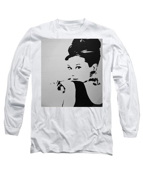 Audrey B W Long Sleeve T-Shirt