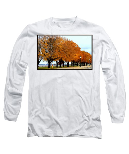 Autumn Leaves In Menominee Michigan Long Sleeve T-Shirt