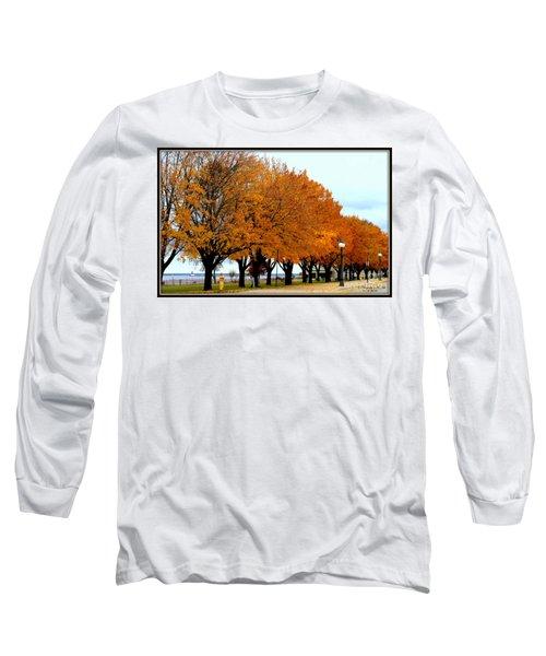 Autumn Leaves In Menominee Michigan Long Sleeve T-Shirt