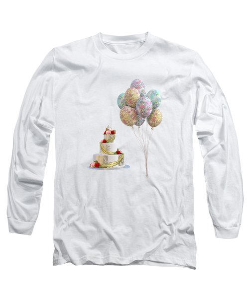 Balloons And Cake Long Sleeve T-Shirt