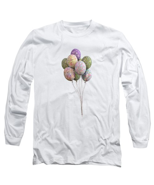Balloons Classic Floral Long Sleeve T-Shirt
