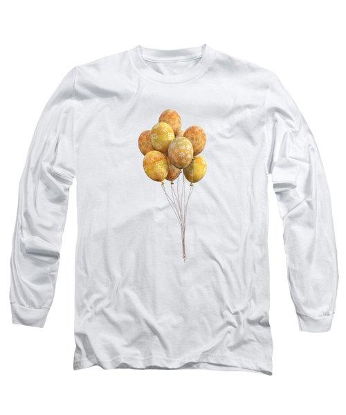 Balloons Golden Long Sleeve T-Shirt