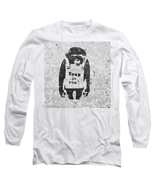 Banksy Chimp Keep It Real Long Sleeve T-Shirt
