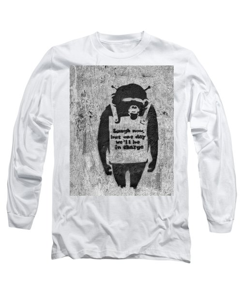 Banksy Chimp Laugh Now Graffiti Long Sleeve T-Shirt