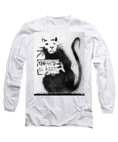Banksy Rat The End Is Here Long Sleeve T-Shirt