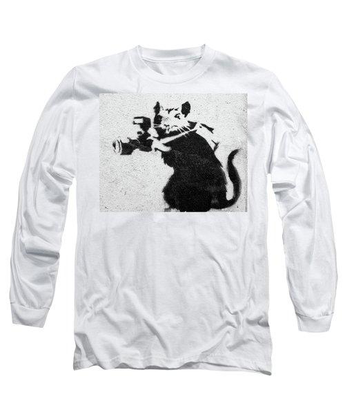 Banksy Rat With Camera Long Sleeve T-Shirt