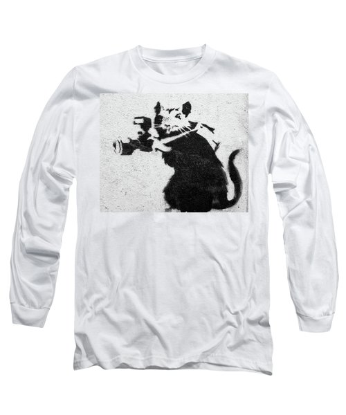 Banksy Rat With Camera Long Sleeve T-Shirt