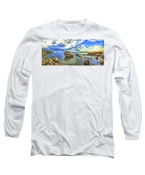 Bansai Rock, Lake Tahoe, Nevada, Panorama Long Sleeve T-Shirt