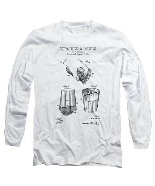 Bar Mixer Patent  Long Sleeve T-Shirt