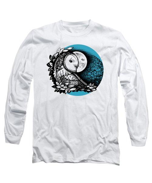 Barn Owl And The Moon Long Sleeve T-Shirt