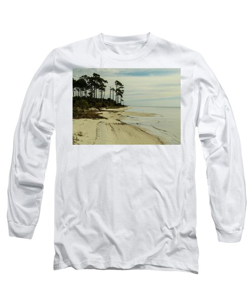 Beach And Trees Long Sleeve T-Shirt