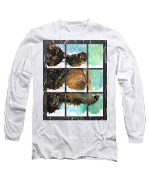 Bear Outside My Window Long Sleeve T-Shirt