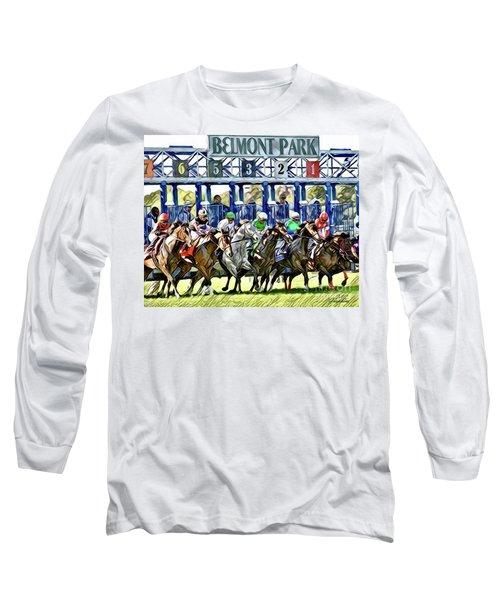Belmont Park Starting Gate 1 Long Sleeve T-Shirt