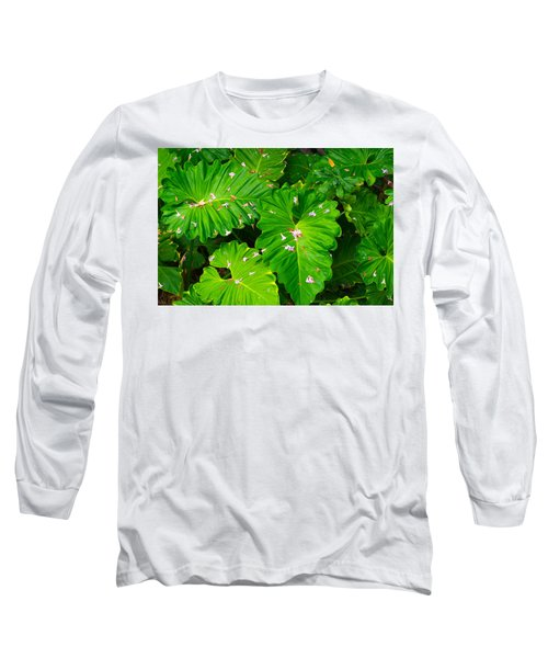 Big Green Leaves Long Sleeve T-Shirt