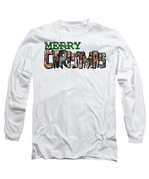 Big Letter Merry Christmas Long Sleeve T-Shirt