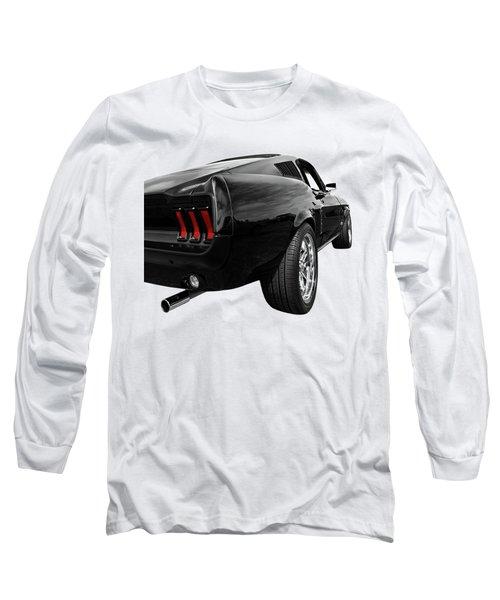 Black 1967 Mustang Rear Long Sleeve T-Shirt