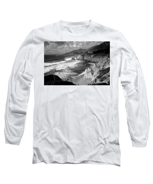 Black And White Big Sur Long Sleeve T-Shirt