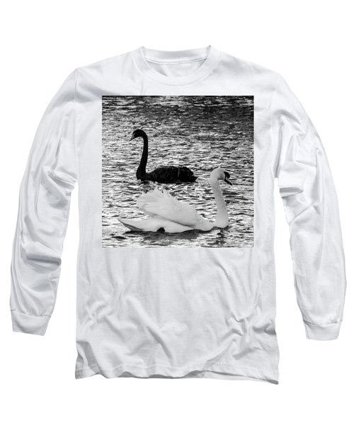 Black And White Swans Long Sleeve T-Shirt