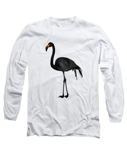 Black Flamingo 2 - Tropical Wall Decor - Flamingo Posters - Exotic Birds - Black, Modern, Minimal  Long Sleeve T-Shirt