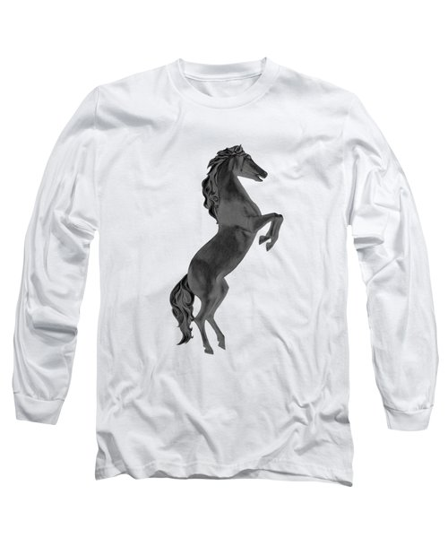 Black Horse Long Sleeve T-Shirt