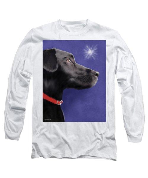Black Labrador Retriever - Wish Upon A Star  Long Sleeve T-Shirt