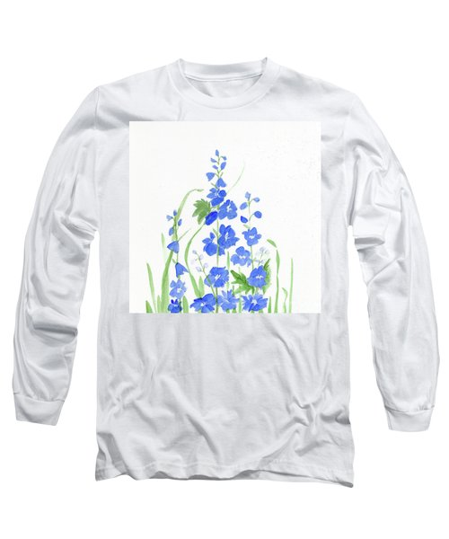 Blue Larkspur  Long Sleeve T-Shirt
