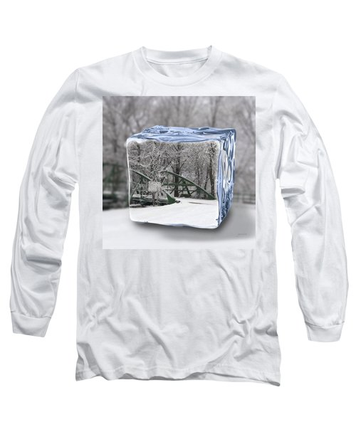 Blue Water Ice Cube Long Sleeve T-Shirt