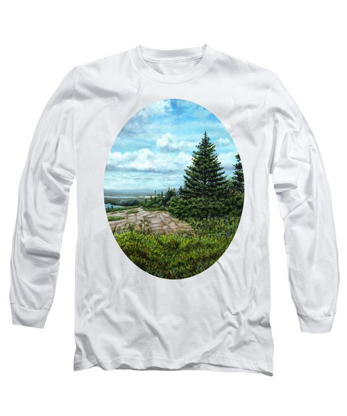 Blueberries On Cadillac Mountain Long Sleeve T-Shirt