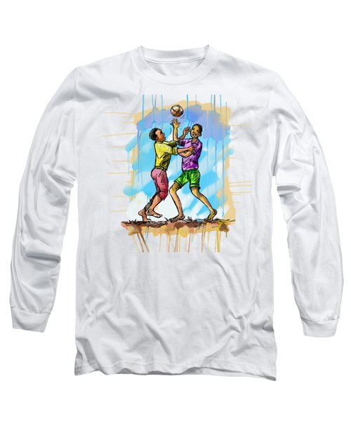 Boys Playing With A Ball Long Sleeve T-Shirt