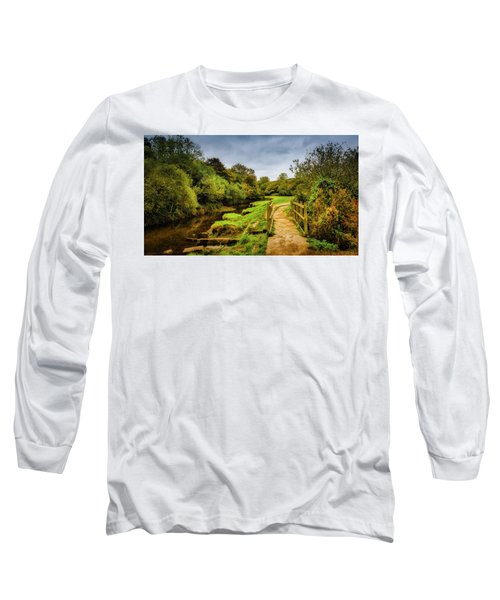 Bridge With Falling Colors Long Sleeve T-Shirt