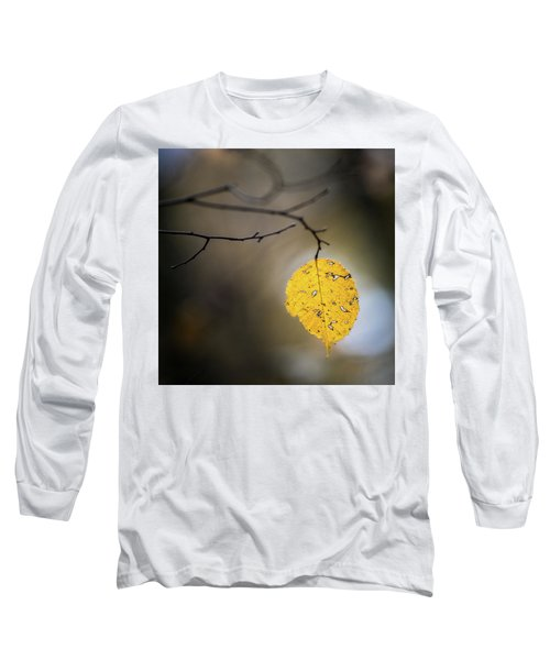 Long Sleeve T-Shirt featuring the photograph Bright Fall Leaf 7 by Michael Arend