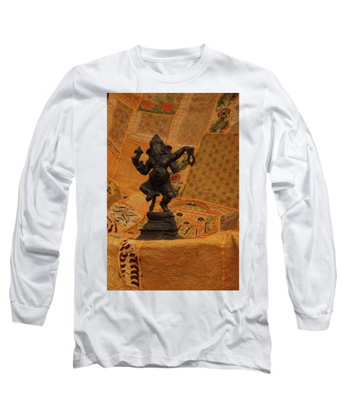 Bronze Ganesha Dancing Long Sleeve T-Shirt