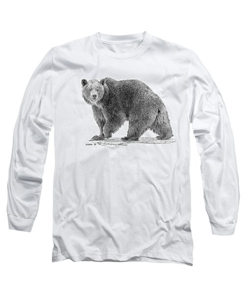 Brown Black And White Long Sleeve T-Shirt