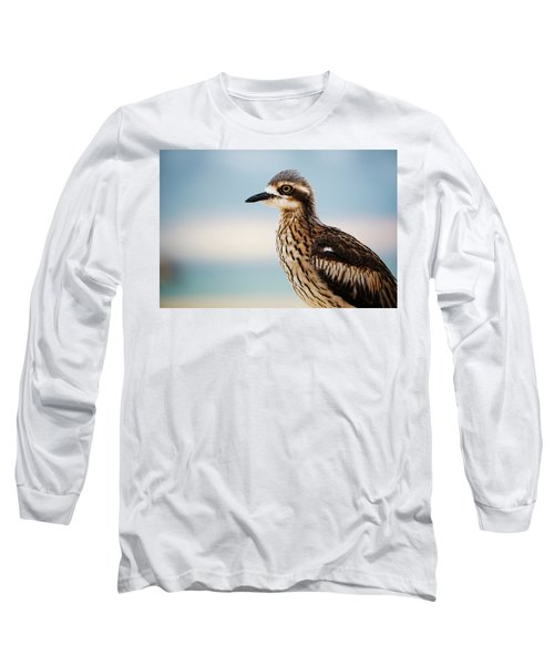 Bush Stone-curlew Resting On The Beach. Long Sleeve T-Shirt