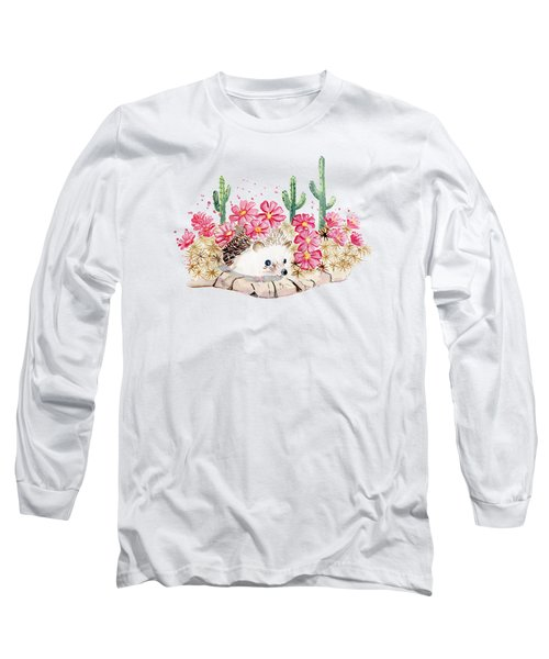 Camouflage - Hedgehog And Cactus Long Sleeve T-Shirt