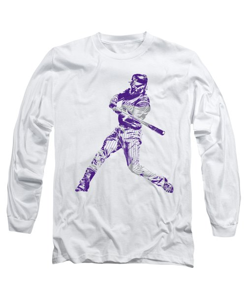 Charlie Blackmon Colorado Rockies Pixel Art 2 Long Sleeve T-Shirt