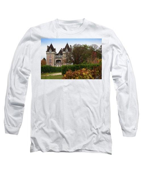 Chateau, Near Beynac, France Long Sleeve T-Shirt