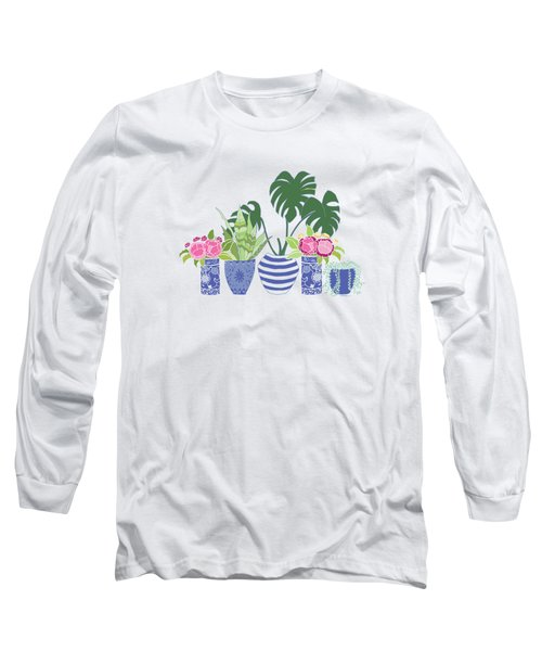 Chinoiserie Garden Long Sleeve T-Shirt