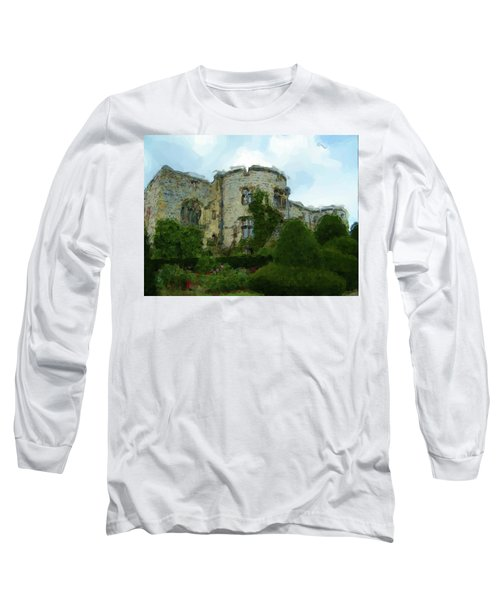 Chirk Castle Painting Long Sleeve T-Shirt