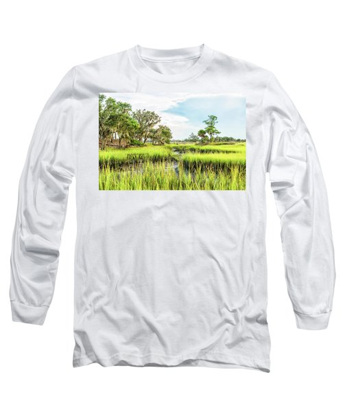 Chisolm Island - Marsh At Low Tide Long Sleeve T-Shirt