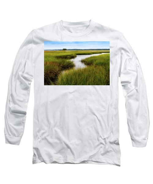 Long Sleeve T-Shirt featuring the photograph Choate Is. Estuary Ipswich Ma. by Michael Hubley