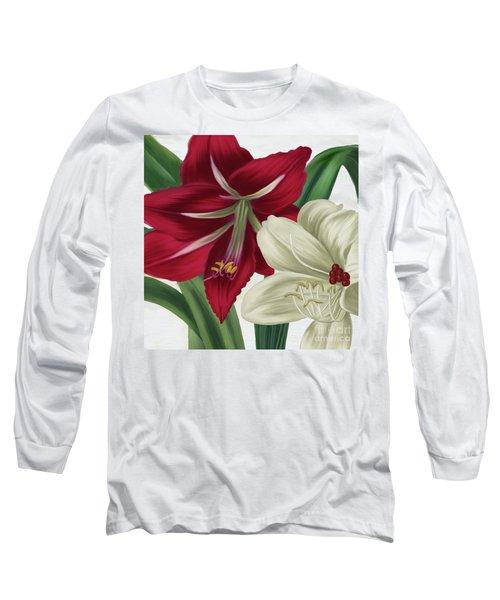 Christmas Amaryllis II Long Sleeve T-Shirt