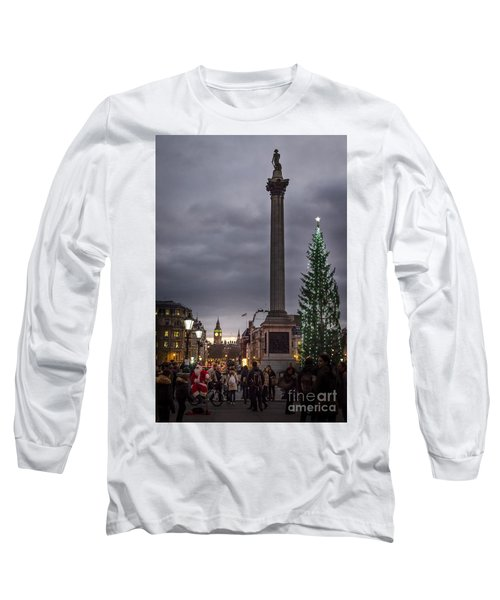 Christmas In Trafalgar Square, London Long Sleeve T-Shirt