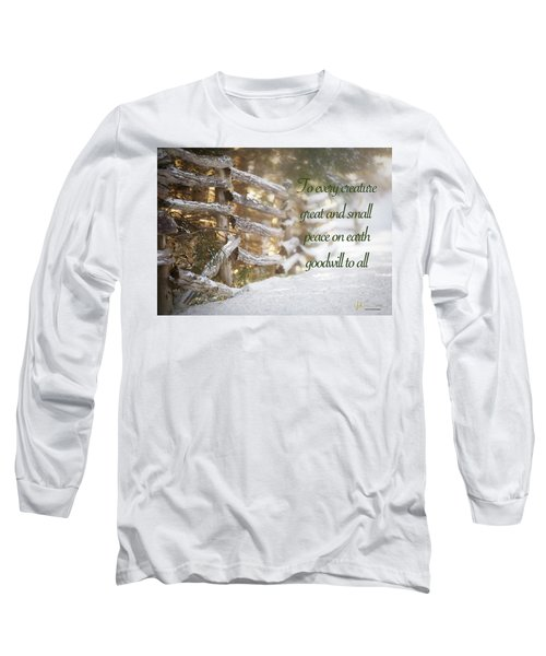 Christmas W/bobcat Long Sleeve T-Shirt